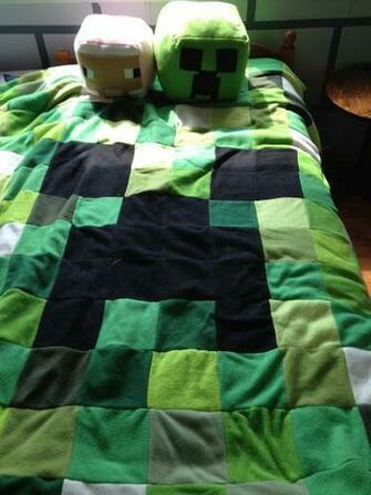 This Is The Minecraft Quilt I Made For Him Last Year My Son Was So