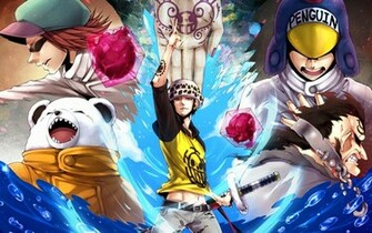 pirates member trafalgar law bepo penguin jean bart shachi one piece