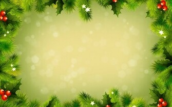 Green christmas decorations wallpaper