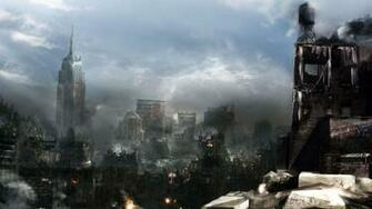 destroyed city wallpaper Collection 64