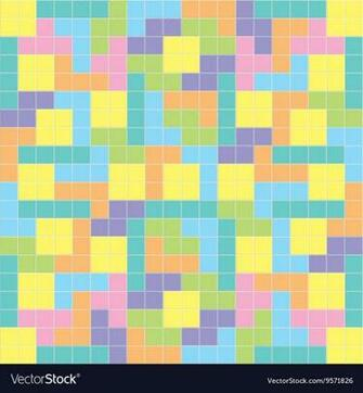 Tetris background pastel colors Royalty Vector Image