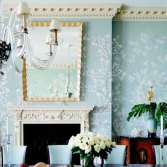 wallpaper and crown molding Wallpapers I love Pinterest
