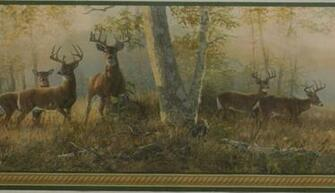 DEER NATURE WALLPAPER BORDER   14C10   221B44341 MonsterMarketplace