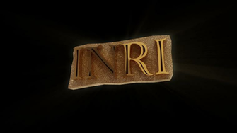 3d loop of Christian Symbol Letters INRI Motion Background