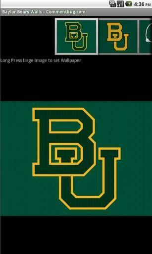 View bigger   Baylor Bears Wallpapers for Android screenshot