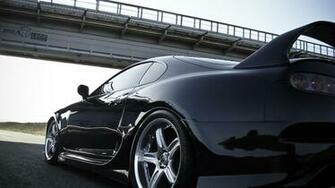 Toyota Supra Side Back View Desktop Wallpapers