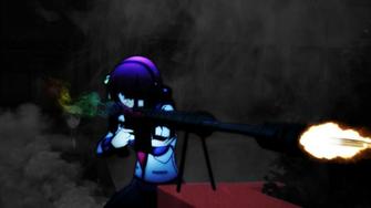 Anime Girl Sniper Rifle Wallpaper by Ultroxmga