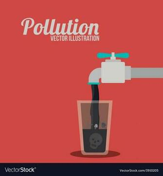 Pollution design over red background Royalty Vector