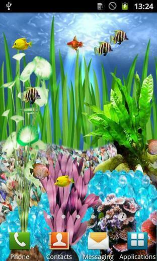 animated fish aquarium with water rippling and fish swimming read more