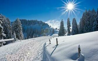 Winter Snow Road Hd Wallpaper Download wallpapers page