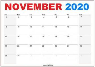 November 2020 Calendar Wallpapers   Top November 2020