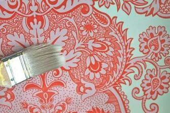 Removable Fabric Wallpaper Tutorial