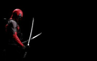 Deadpool Black Background Katana Marvel Comics HD Wallpaper 19201200
