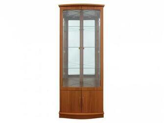 Delta 2 Door Glass Teak Display Cabinet Cabinets from FADS