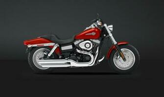 Harley Davidson Fat Bob 2013 Side View Red