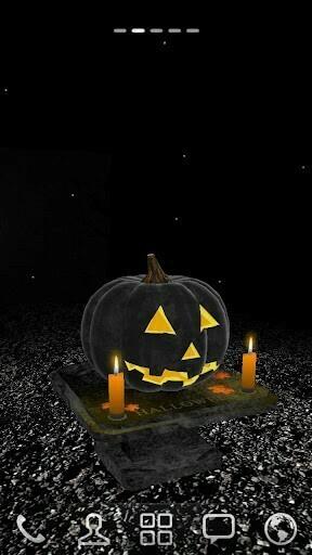 View bigger   3D Halloween Pumpkin Wallpaper for Android screenshot
