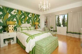 michelle workman banana leaf wallpaper beverly hills hotel gold greek