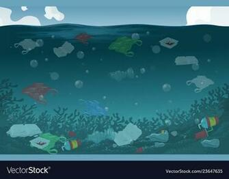Nature water pollution background Royalty Vector Image