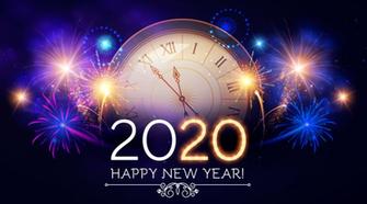 Happy New Year 2020 Wallpaper in Arabic Hindi English and Urdu