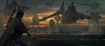 Boba fett Wallpaper star wars art imperial march   HD Wallpapers