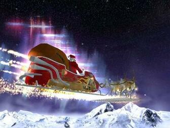 Santas Flight 3D screensaver a breathtaking flight in a reactive