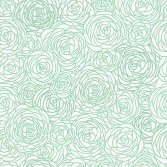 Removable Wallpaper Blossom Print Mint by GailWrightatHome 2000