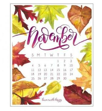 100 Cute November 2019 Calendar Wall Floral Designs Images Pictures