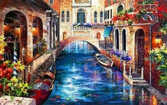 Venice Paintings Wallpaper Amazing Photos Cool Images High