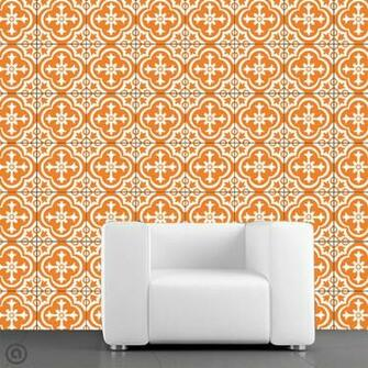 Removable Wallpaper  Parliment Tile  Peel Stick Self Adhesive Fabric