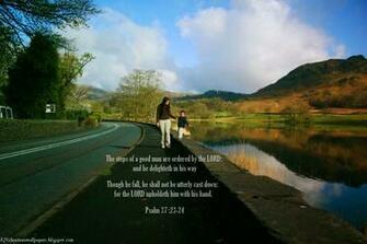King James KJB versed Christian Wallpaper Psalm 3723 24
