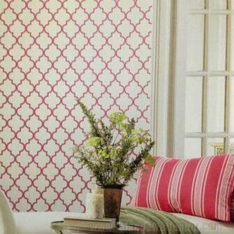 Buzzing Around Trellis Raspberry Wallpaper 37WAVCOT   LelandsWallpaper