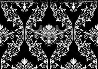 Royalty vector of seamless damask pattern Black Background and