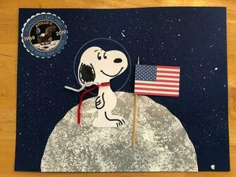 Kathys Art Project Ideas 50th Anniversary of Apollo 11 Snoopy in