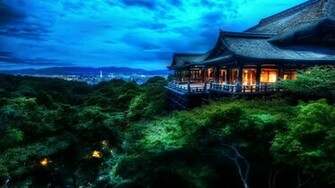 Japan Night Landscape Wallpaper HD 10770 Wallpaper WallpaperLepi