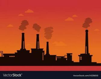 Pollution industry bad environment background Vector Image