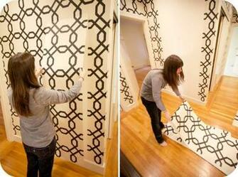 Accenting Walls with Temporary Wallpaper and Fabric   Homescom