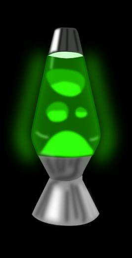 Lava Lamp Glowing Green Clip Art at Clkercom   vector clip art online