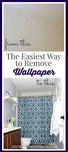 The Easiest Way to Remove Wallpaper   Just a Girl and Her Blog
