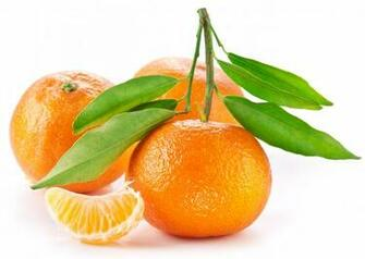 Orange Fruit With Leaf HD Wallpaper Background Images