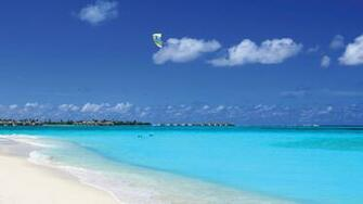 Blue Sky Over the Ocean Desktop Background HD 1920x1080