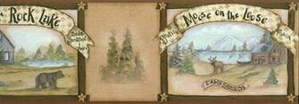 Bear Deer and Moose Wall Paper Border Wallpaper Border   Wallpaper