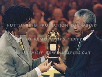 Ruud Gullit And Nelson Mandela Politician