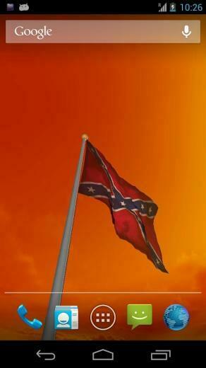 brand new real 3D Rebel Flag Live Wallpaper which you can view in