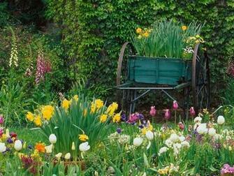 Spring Flower Garden Desktop Backgrounds   Pixdaus
