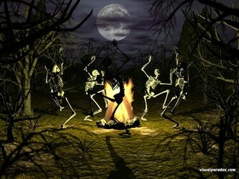 Halloween Wallpapers   Halloween Wallpapers Dancing Skeleton