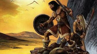 Conan the Barbarian Wallpaper Conan Red Sonja Wallpaper