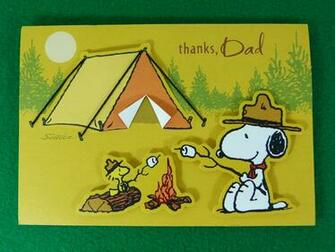 Snoopy Fathers Day Card Inside card You made me a happy Flickr