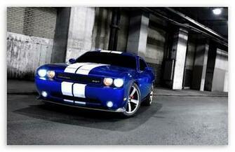 Dodge Challenger SRT8 Blue HD desktop wallpaper Widescreen High