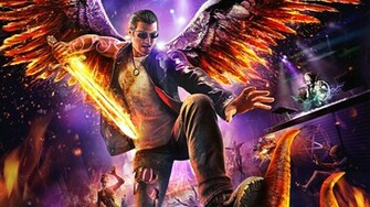 Saints Row Gat Out of Hell Wallpaper in 1366x768