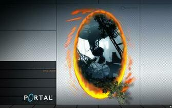 Of course we also need a Portal wallpaper with the companion cube